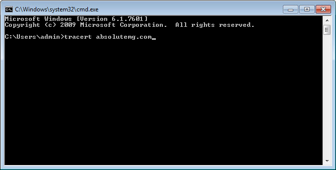traceroute step 1
